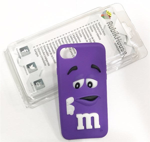 Funda M&M iPhone 7 Morada (Morado - iPhone 7)