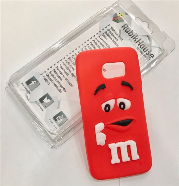 Funda M&M para Samsung Galaxy S7 Edge (Rojo - Samsung Galaxy S7 Edge)