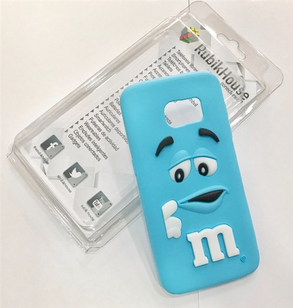 Funda M&M para Samsung Galaxy S7 Edge (Azul - Samsung Galaxy S7 Edge)