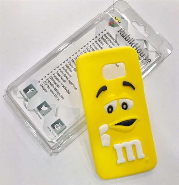 Funda M&M para Samsung Galaxy S7 Edge (Amarillo - Samsung Galaxy S7 Edge)