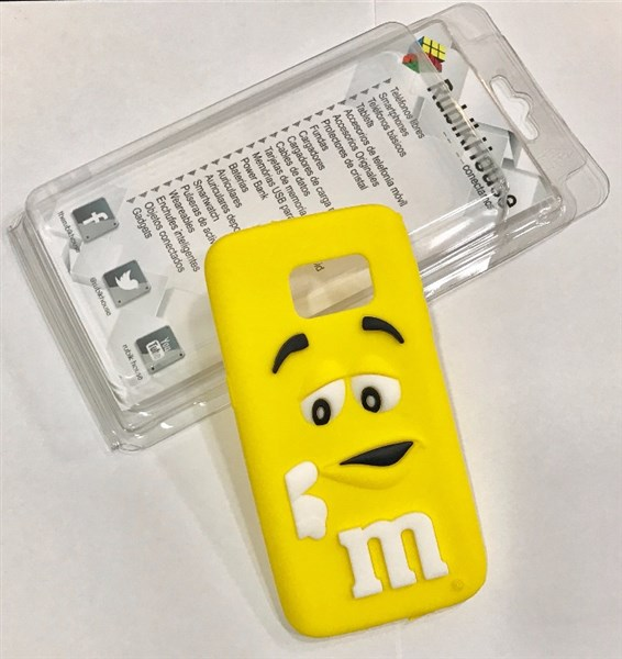Funda M&M para Samsung Galaxy S7 (Amarillo - Samsung Galaxy S7)